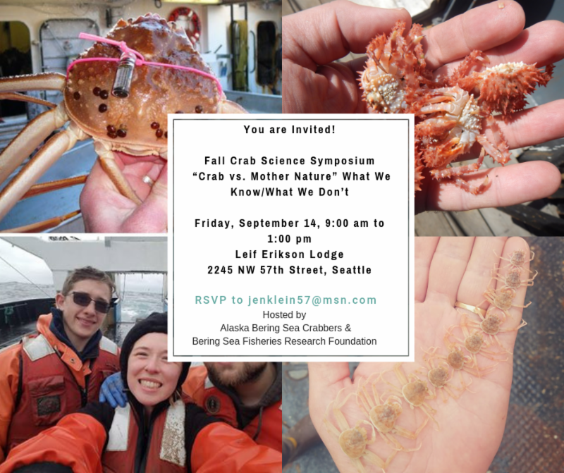 You are Invited! Fall Crab Science Symposium